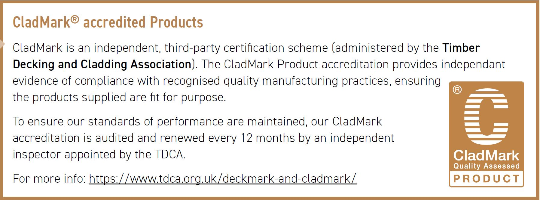 CladMark Approved TDCA